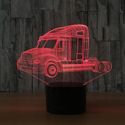 7 Colors Heavy Truck 3D Night Light Lamp -