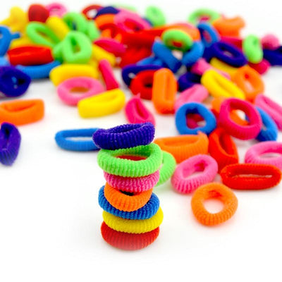 Cute Rubber Hair Band Set(100Pcs) -