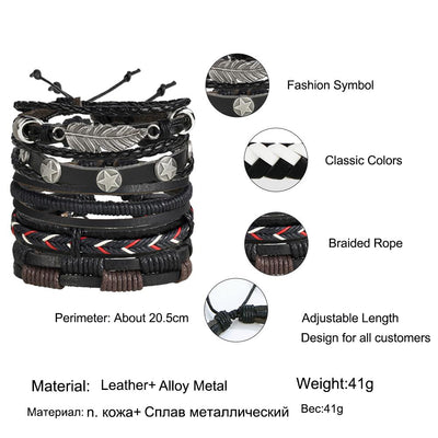 Multi-layer Leather Bracelet -