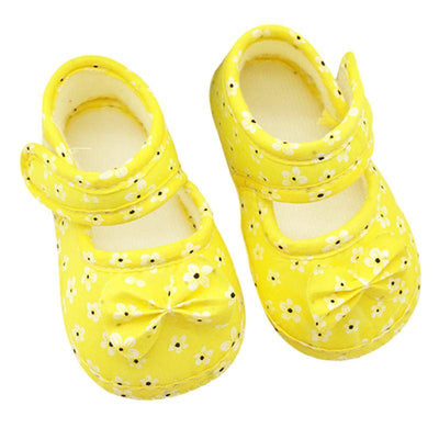 Cute Soft Anti-Skid Infant Shoes - Yellow / 0-6 months