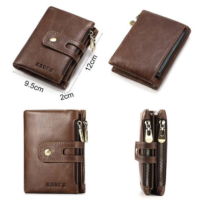 Mens genuine leather wallet -