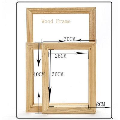 Canvas Painting Wooden Frame -