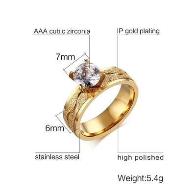 Cubic Zirconia Wedding Ring -