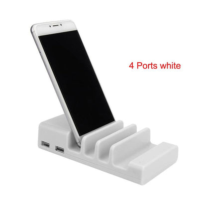 Usb Charging Station - 4 Ports white / EU plug