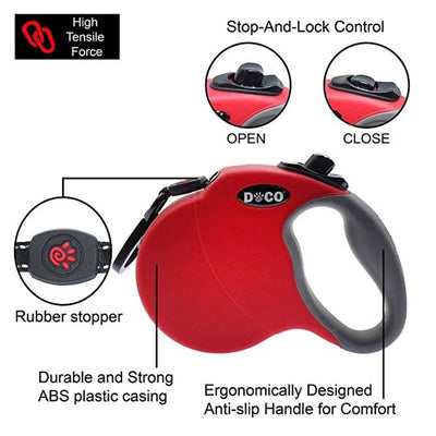 Retractable dog leash -