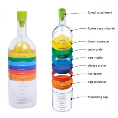 8-in-1 Bottle-Shaped Kitchen Tool -