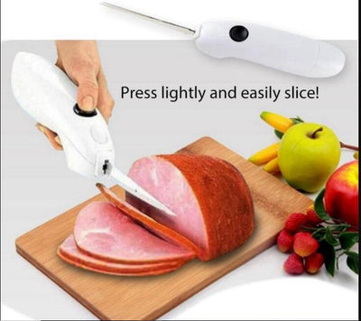 Easy Cut Electric Cordless Carving Fillet Chef Kitchen Knife -
