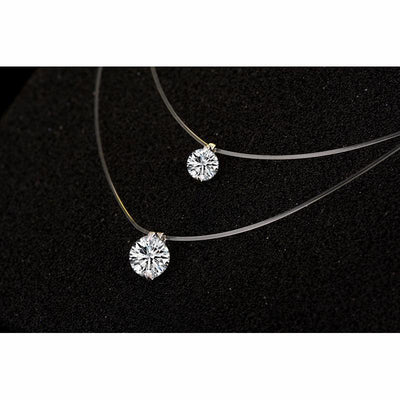 Crystal Pendant Necklace -