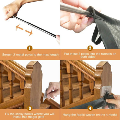 Magic Dog Gate For Stairs -