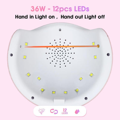 UV Gel Nail Dryer Light Lamp -