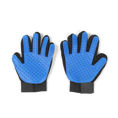 Pet Cleaning Brush Glove - Right Hand Blue / M
