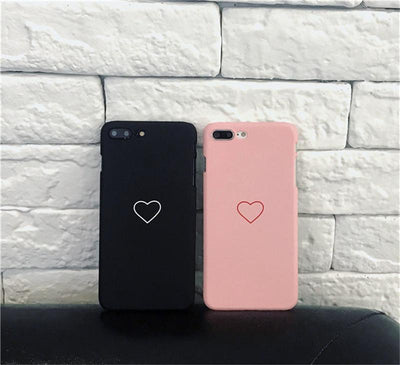 Cute Heart Print iPhone Case Cover -