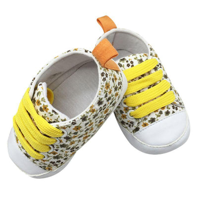 Soft Soled Toddler Crib Shoes - Yellow / 0-6 Months