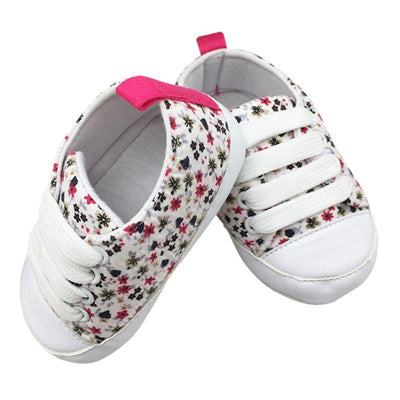 Soft Soled Toddler Crib Shoes - White / 0-6 Months