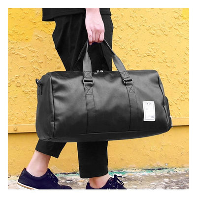 Hand Leather Duffle Bag -