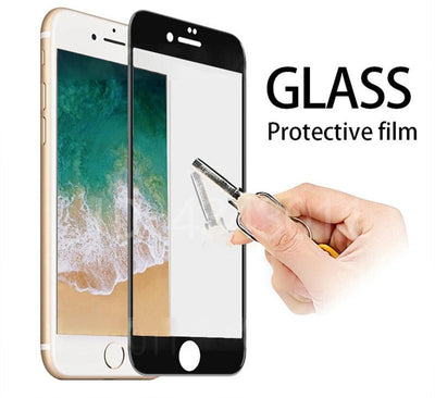 Full Cover Protective Glass For iPhone - For iPhone 6 / White