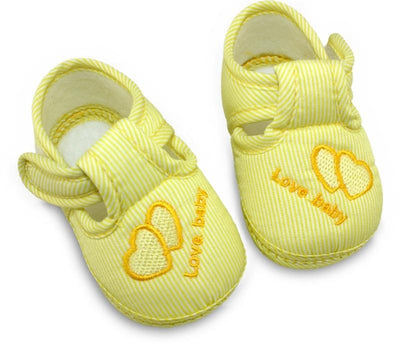 Cute Stripes Baby Shoes - Yellow / 1