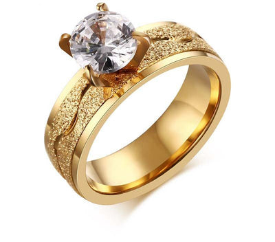 Cubic Zirconia Wedding Ring - 6
