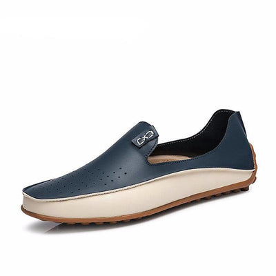 LEATHER CASUAL LOAFERS DRIVING SHOES -