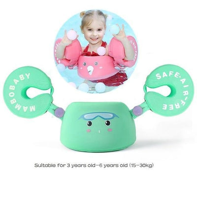 Solid Baby Swimming Ring - Arm Float Green