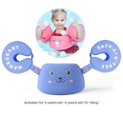 Solid Baby Swimming Ring - Arm Float Blue