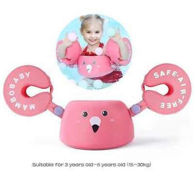 Solid Baby Swimming Ring - Arm Float Pink