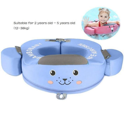 Solid Baby Swimming Ring - Underarm Float Blue