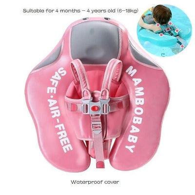 Solid Baby Swimming Ring - WF Up Climb Pink