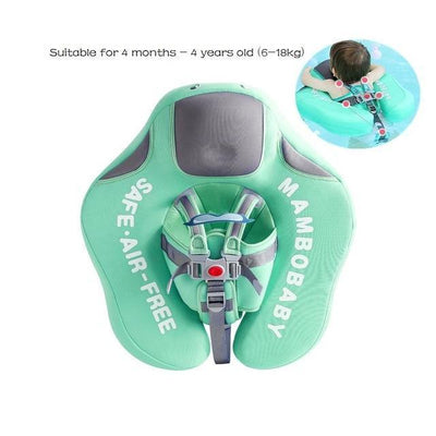 Solid Baby Swimming Ring - Upgrade Climb Green