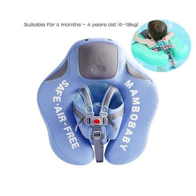Solid Baby Swimming Ring - Upgrade Climb Blue