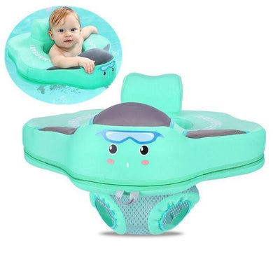 Solid Baby Swimming Ring - Seat Float Green