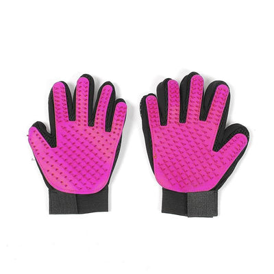 Pet Cleaning Brush Glove - Right Hand Pink / M