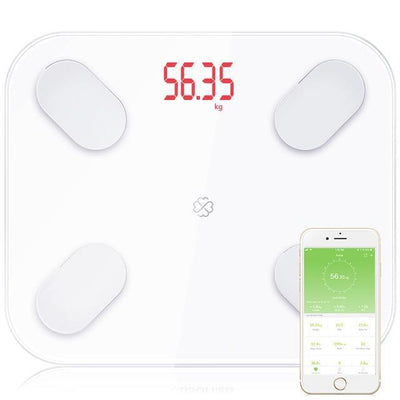 Smart digital bathroom body weight scale - White