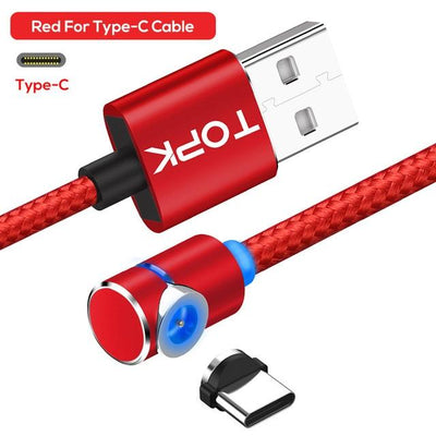 Magnetic Charging Cable - Red Type c Cable / 1m