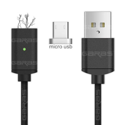 Lightning Cable - Micro-USB Cable / Black / 1m