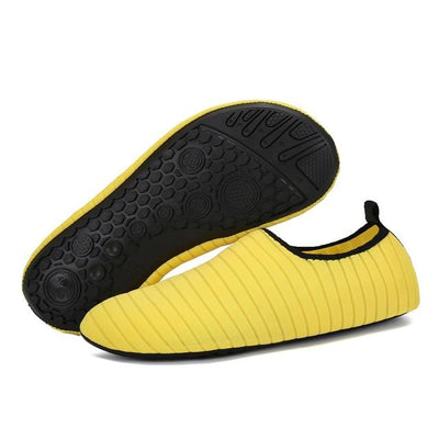 Womens and Mens Water Shoes Barefoot Quick-Dry Aqua Socks - YELLOW / 38