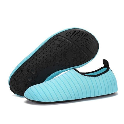 Womens and Mens Water Shoes Barefoot Quick-Dry Aqua Socks - Sky blue / 38