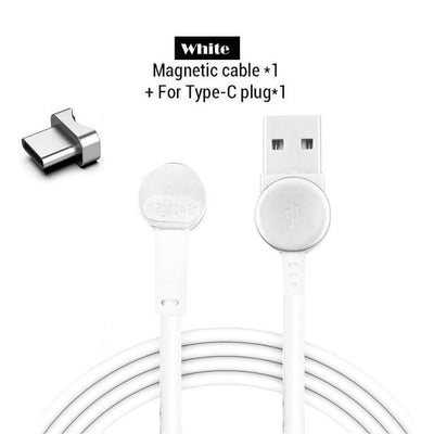 180° Magnetic Ring Charging Cable - type-C White