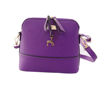 Vintage Nubuck Leather Bag - Purple