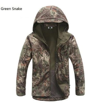 Softshell Tactical Hooded Jacket - Green Snake / S