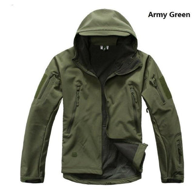 Softshell Tactical Hooded Jacket - Army Green / S