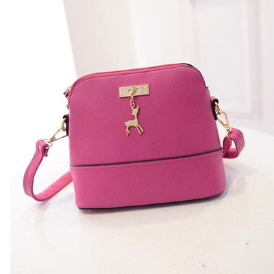 Vintage Nubuck Leather Bag - hot pink