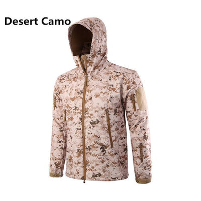 Softshell Tactical Hooded Jacket - Desert Camo / S