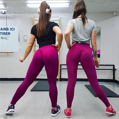 Push Up Leggings - rose red / S