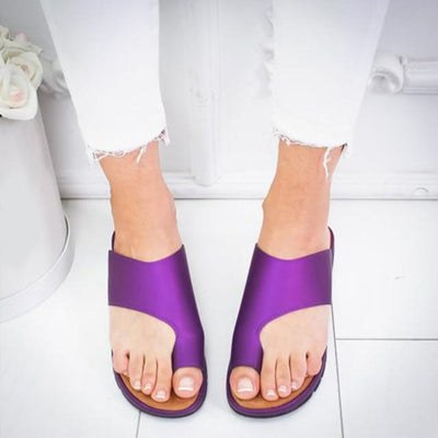 Orthopedic Summer Sandals - purple / 4