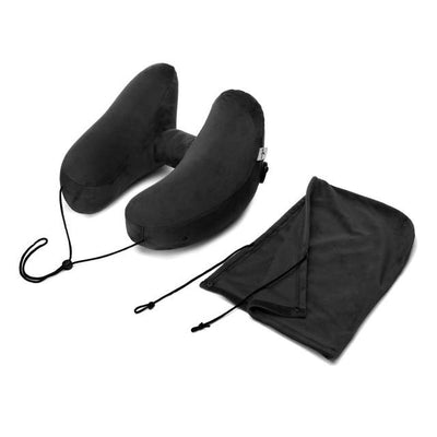 H-Shape Transport Pillow - Black Pillow hat