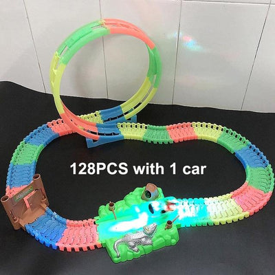 Magic Twister flexible Track - 128pcs with 1 car C