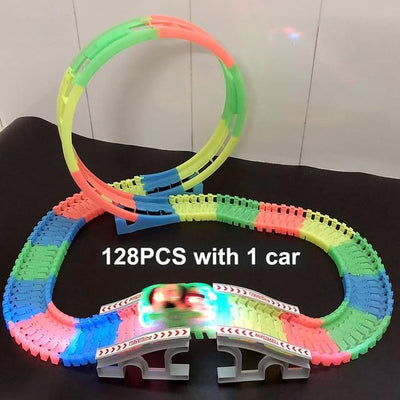 Magic Twister flexible Track - 128pcs with 1 car D