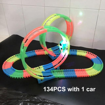 Magic Twister flexible Track - 134pcs with 1 car