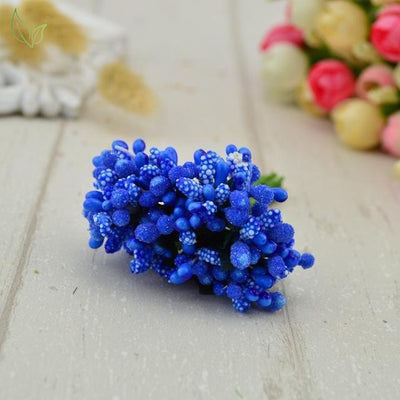 Handmade Stamen Flower Set (12Pcs) - 13 dark blue